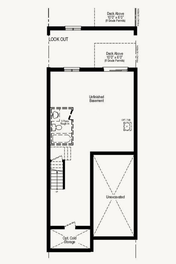 Walk-out basement where grade permits