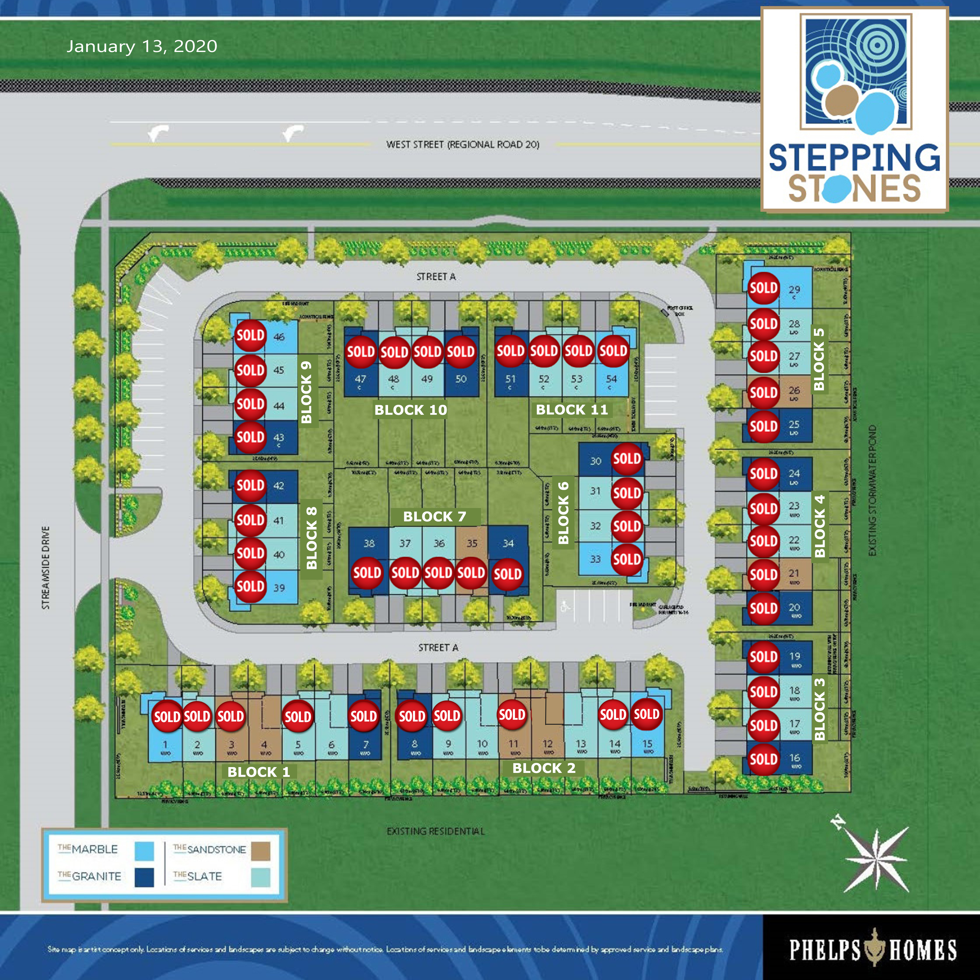 Stepping Stones Site Plan - 01.13