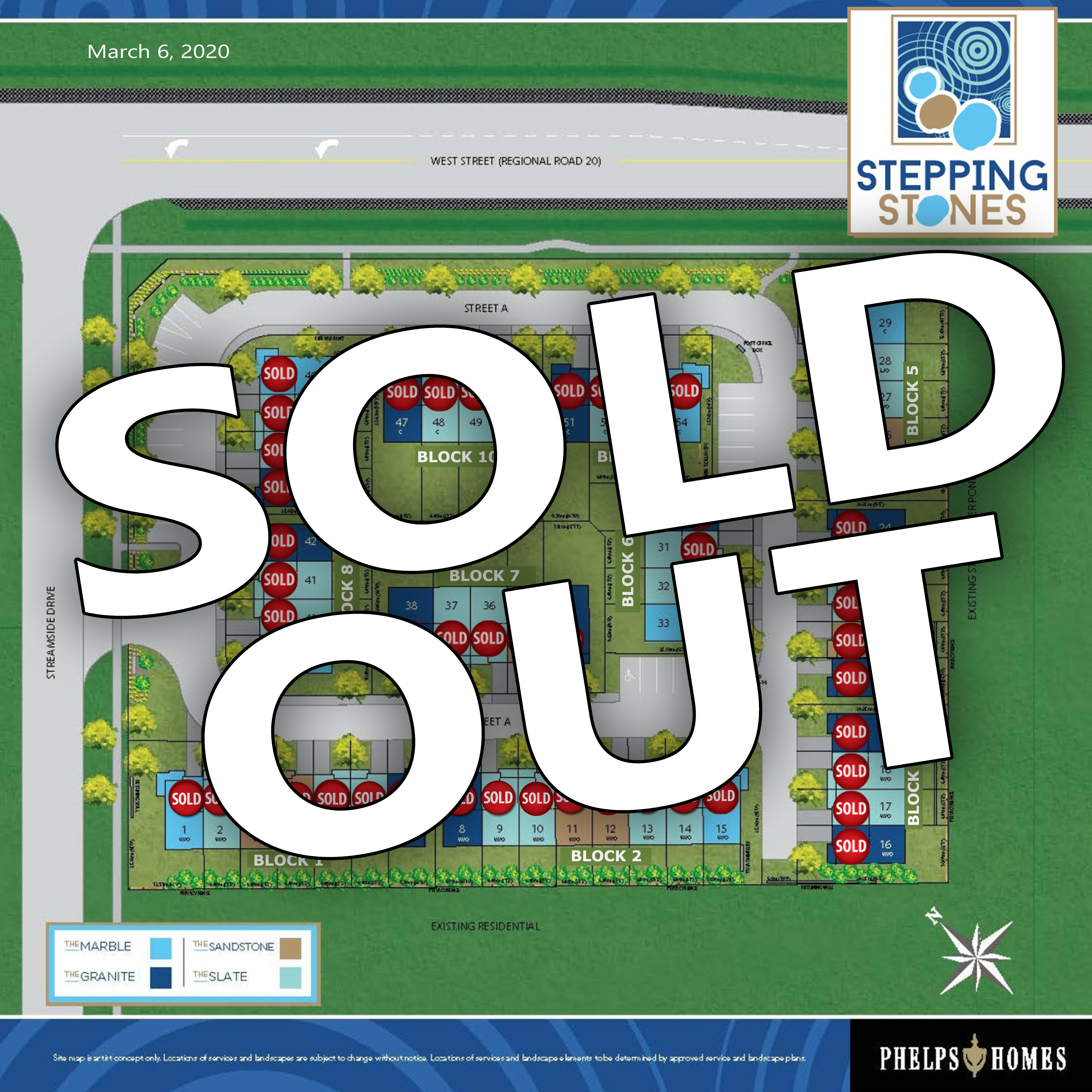 Stepping Stones Site Plan - SOLD OUT - 03.09