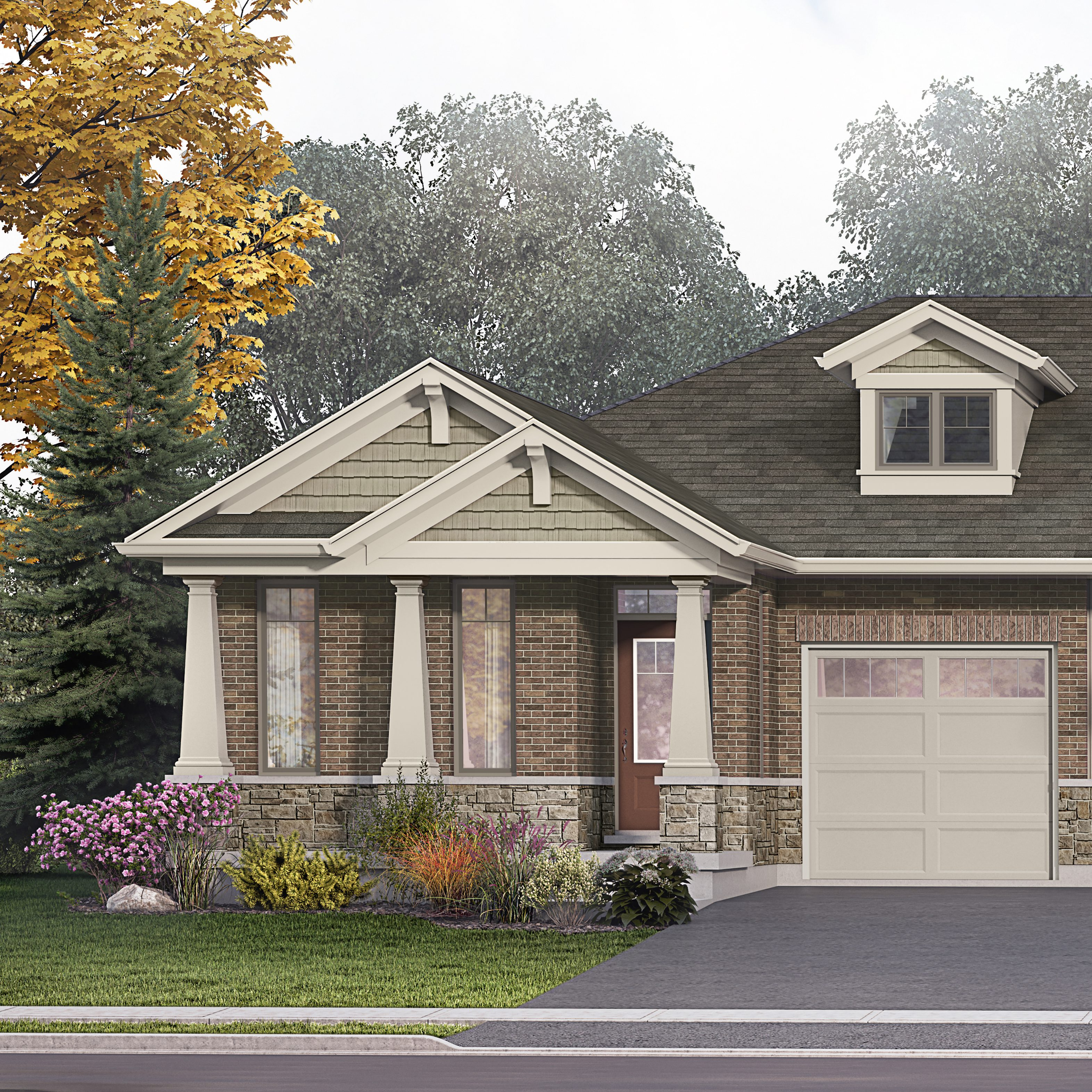 Merritton Commons phase 2 bungalow end